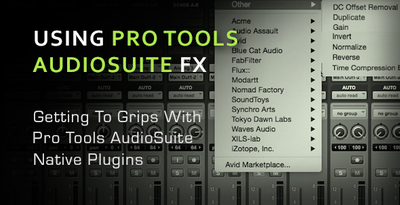 Using pro tools audiosuite only plugins