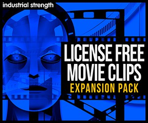 Loopmasters 5100  license free movie clips expansion sound design videos 300 x 250