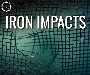 Loopmasters ii iron impact sound design  cinematic  foley  sfx  fx  industrial  techno  noise  impacts  wood  clangs 300x250